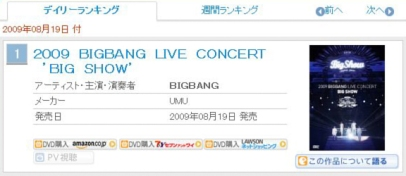big bang - oricondvd